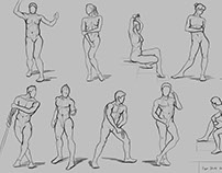 Figure Drawing 10/30 (Practicing Frank Reilly's Method)
