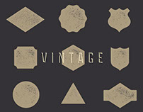 FREE VINTAGE BADGE KIT
