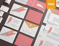 Free Branding Stationery Mockup Scene