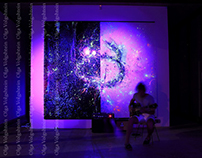 Abstract Glowing wall painting