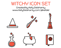 Witchy Icon Set
