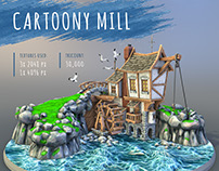 Cartoony Mill