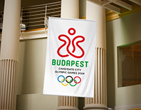 Budapest - Candidate City Olympic Games 2024 LOGO