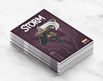 Competitive work. Comics's cover. Storm.