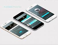 Mobile Phone - Flat App UI