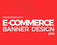 E-Commerce (hepsibenim.com) Banner Design
