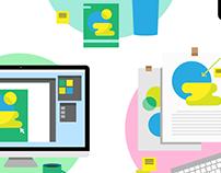Design process | Vector Illustration