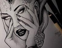 Medusa tattoo sketches