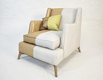 VIBIEFFE Class 680 armchair - 3D model