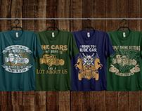 Car T-shirt design Bundle