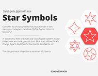 Star Symbol & Glyph Collection