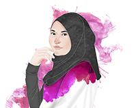 Portrait Illustration - Editorial Design Sangkuriang