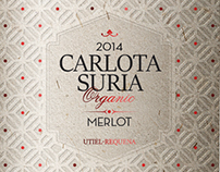 Diseño etiqueta Vino Carlota Suria Pago de Tharsys