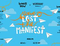 HonestBrew x Verdant Brew Co | Manifest Label Design