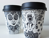 """Tale"" away / take away coffee cups"