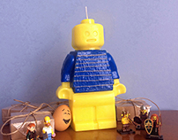 Giant Lego Minifigure Candle