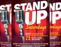Stand Up Saturdays - Club A5 Template