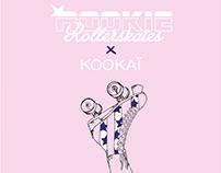 KOOKAÏ x ROOKIE ROLLERSKATE ● Illutsration