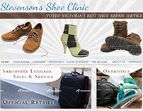 Stevenson's Shoe Clinic - Website Design (2011)