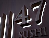 47 SUSHI signage concept