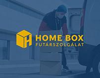 Home Box courier service logo concept