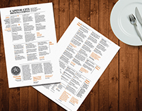 Menu Design Capitol City Brewing Company
