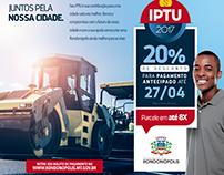Anúncio IPTU Prefeitura de Rondonópolis