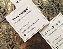 Gold foil calling cards
