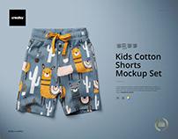 Kids Cotton Shorts Mockup Set (17/KEv.1)