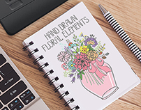 Doodle flowers.Hand drawing vector