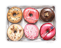 Six Donut Tray