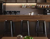 Coffee shop | Corona Renderer