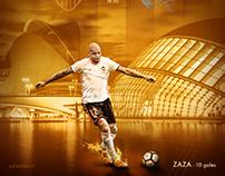 Valencia CF artwork - La Liga 2018