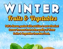 Winter Fruits n Vegetable Mialer Design