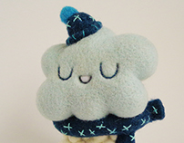 Snowy Cloud, one of a kind Art Toy