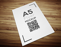 A5 flyer mockup free