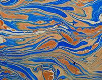 Ebru Art o técnica de marmolado
