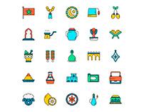 Morocco Icons Set
