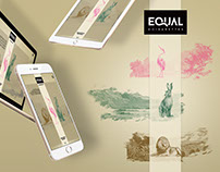EQUAL E-CIGARETTES. Art direction & web design.
