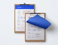 Free Blue Resume Template PSD