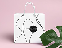 Identity design and style for fashion brand A. D.