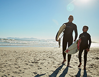Father and Son Surf Trip