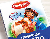 Logo design and packaging of dairy products
