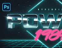 80s Cyberspace Text and Logo Effect Vol.2 PSD Template