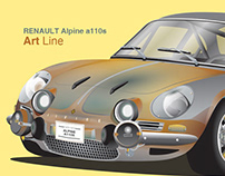 RENAULT Alpine a110s GT - Illustrations
