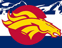 Colorado Broncos flag