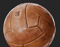 Vintage Leather Soccer Ball