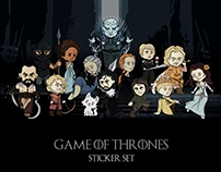 """Game of Thrones"" stickers"