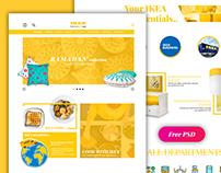 IKEA | website UI + free PSD