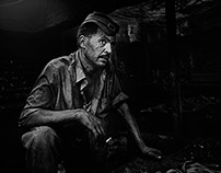 Egyptian's workers in blak and white Portfolio
